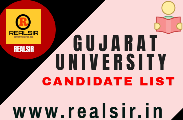 Gujarat University Candidate List