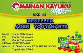 Reseller Mainan Kayuku Yogyakarta Ganik
