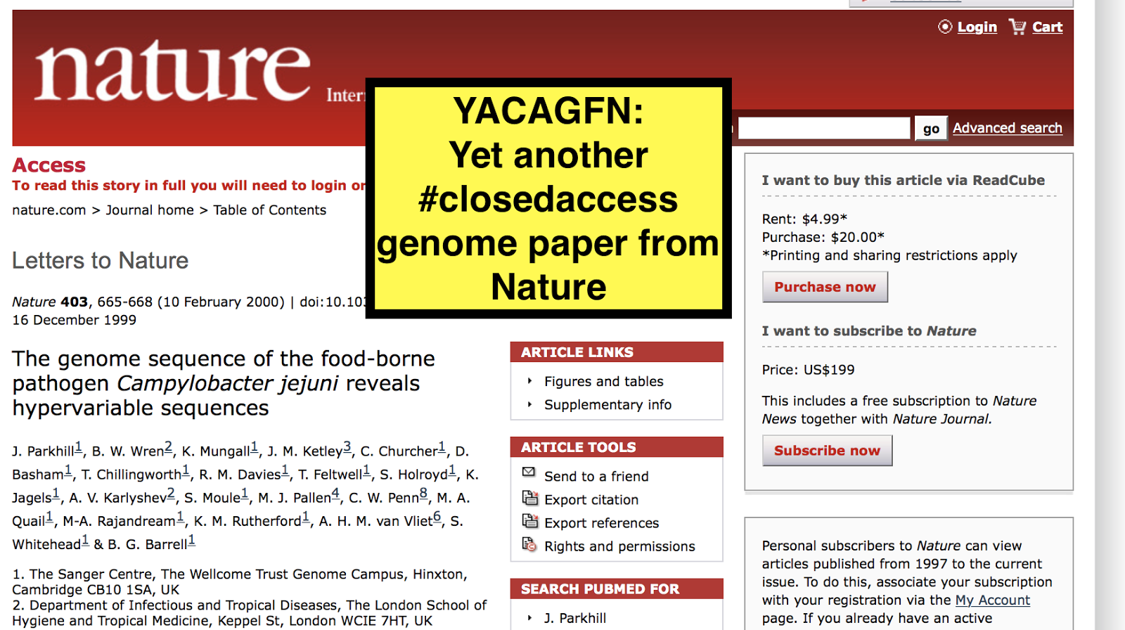 The Tree of Life: Nature Publishing Group continues to