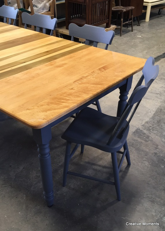 Dining set relove in natural stain and fusion soapstone for Soapstone dining table