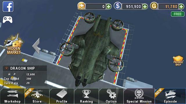 mod apk gunship battle helicopter 3d terbaru