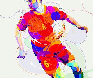 Ilustración de futbolista