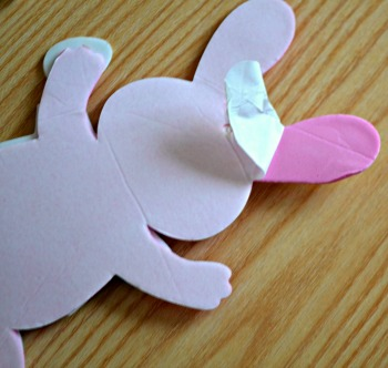 Self adhesive bunny arts and crafts