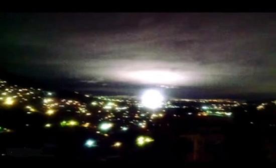 Luzes no ceu Terremoto Mexico 2