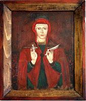 Sfanta mucenita Parascheva, icoana pe lemn
