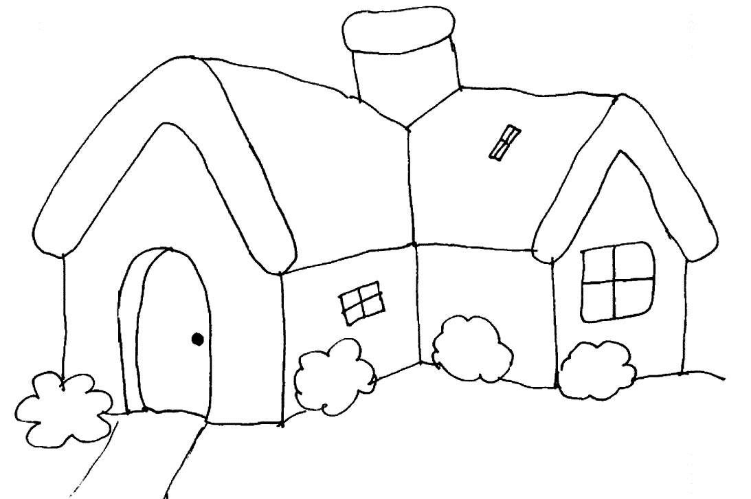 Modelos De Casas Desenhos Preto E Branco Para Colorir
