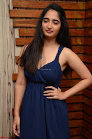 Radhika Mehrotra in a Deep neck Sleeveless Blue Dress at Mirchi Music Awards South 2017 ~  Exclusive Celebrities Galleries 051.jpg
