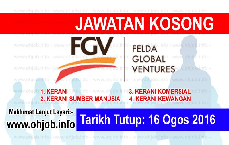 Jawatan Kerja Kosong Felda Global Ventures (FGV) logo www.ohjob.info ogos 2016
