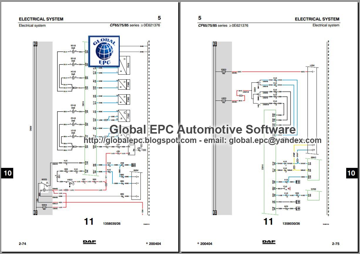 AUTO MOTO REPAIR MANUALS: DAF 95XF CF65 CF75 CF85 LF45