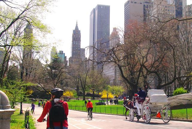på cykel i New York