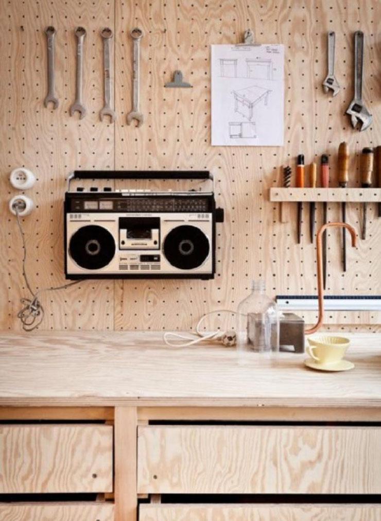 Marzua paneles perforados una soluci n para mantener el - Panel pared cocina ...