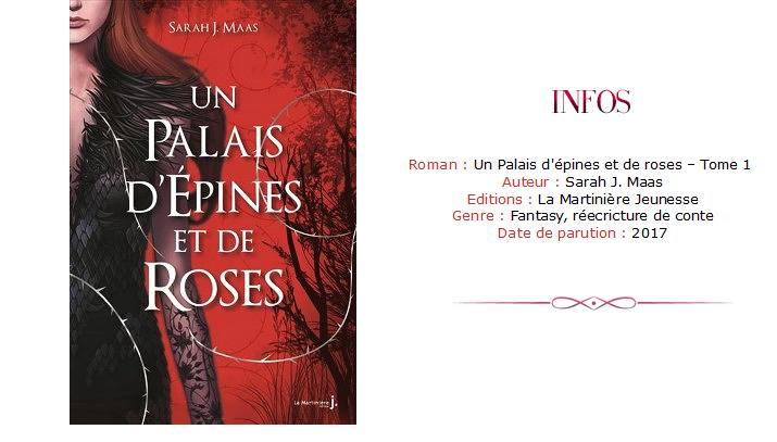 Avis chronique - Un Palais d'épines et de roses roman ACOTAR Tome 1
