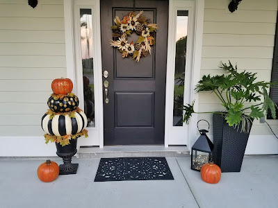 fall Halloween pumpkin topiary