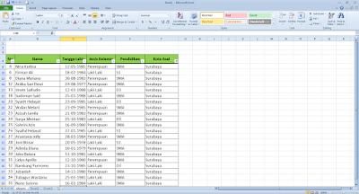 Cara Membuat Filter Data Di Microsoft Excel Cara Membuat Filter Data Di Microsoft Excel