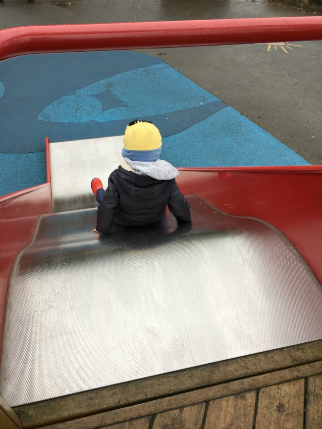 boy-on-slide-at-Roath-park-cardiff