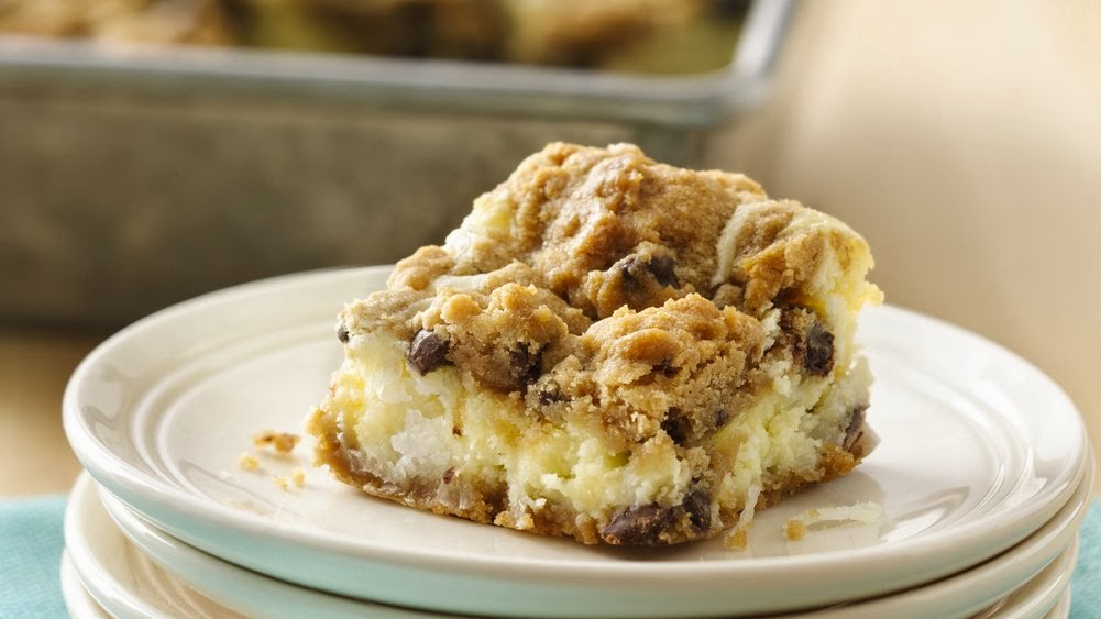 chocolate Chip Cheesecake bars recipe
