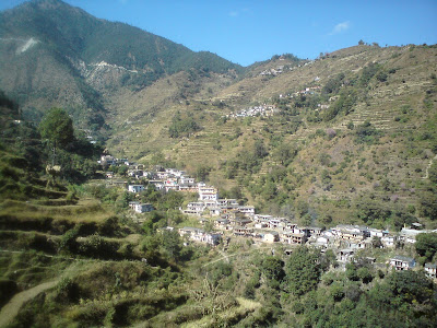 Tiny villages of the Himalayan mountains enroute in the Char Dham yatra