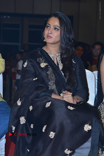 Actress Anushka Anushka Shetty Stills in Black Salwar Kameez at Om Namo Venkatesaya Audio Launch Event  0026.JPG