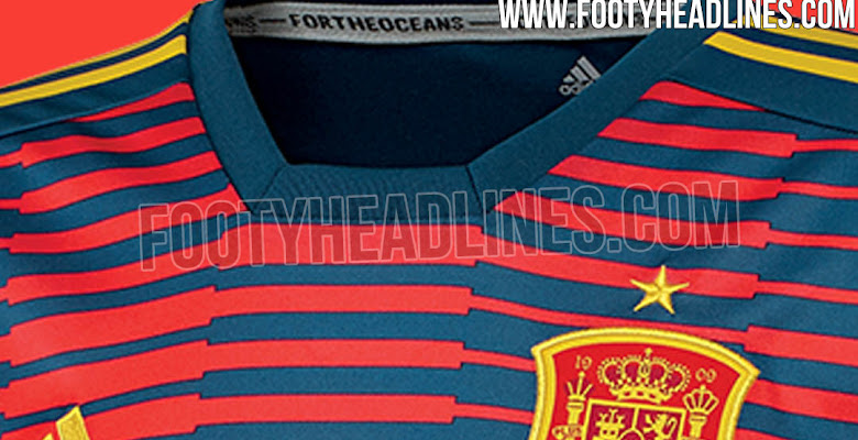 1df71f0ae Adidas Parley Spain 2018 World Cup Pre-Match Jersey Leaked