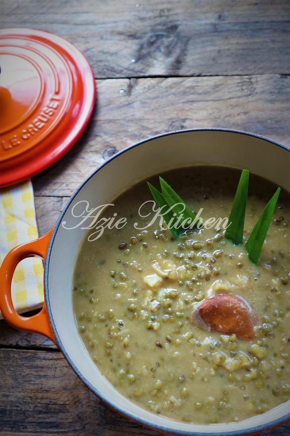Bubur Kacang Hijau Dengan Durian Azie Kitchen