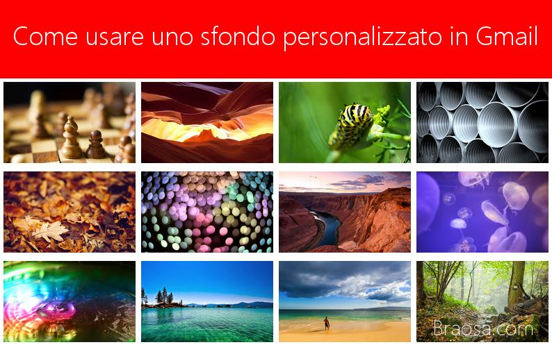 Come usare uno sfondo personalizzato in Gmail