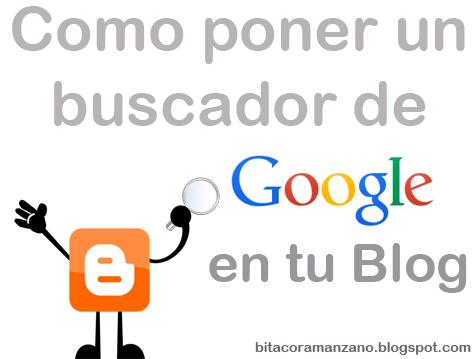 buscador de google en blogger