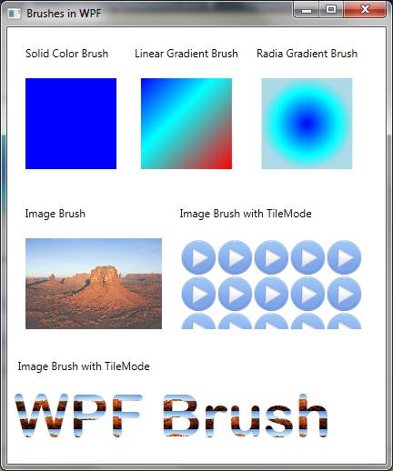 Mitesh Sureja's Blog: WPF Brushes