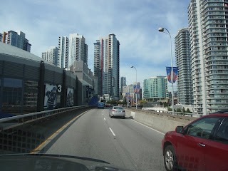 City of Vancouver. Traffic and city scape