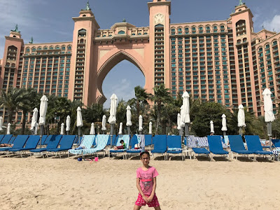 Atlantis The Palm viewed from beach, Dubai