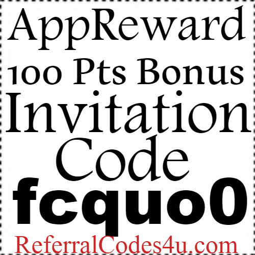 AppReward Referral Code, Invite Code, Sign Up Bonus and Reviews 2018-2019
