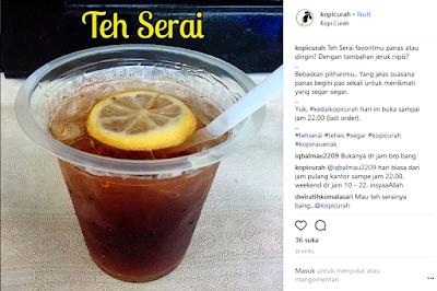 Minuman Khas Riau Pelepas Dahaga Es Teh Serai Panas Dingin