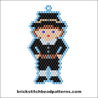 Free Thanksgiving brick stitch seed bead pattern charts