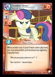 My Little Pony Sweetie Drops, Secret Agent Equestrian Odysseys CCG Card