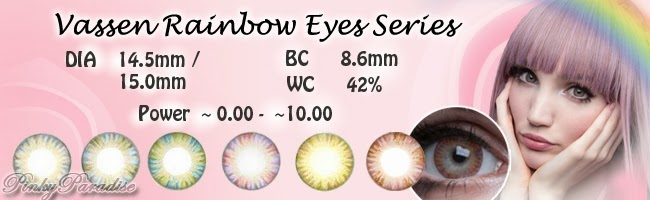 Vassen Rainbow Eyes Series - Circle lenses & Colored Contacts