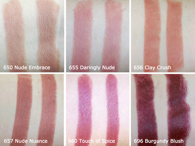 Maybelline Color Sensational Creamy Matte Lipsticks (Brown Nudes)