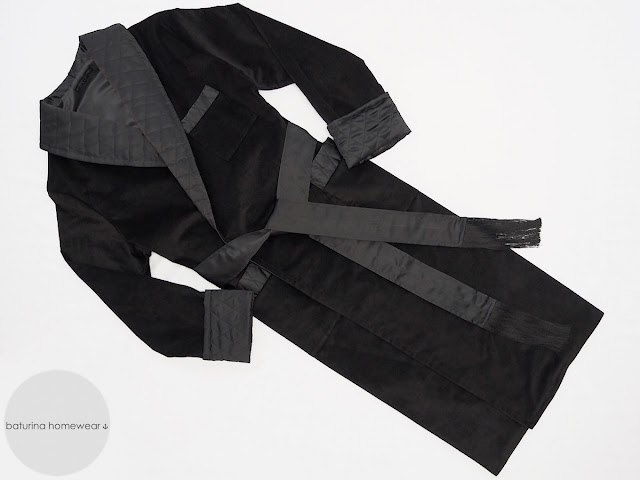 mens long black velvet dressing gown long warm cotton robe quilted silk collar full length gentlemans robes