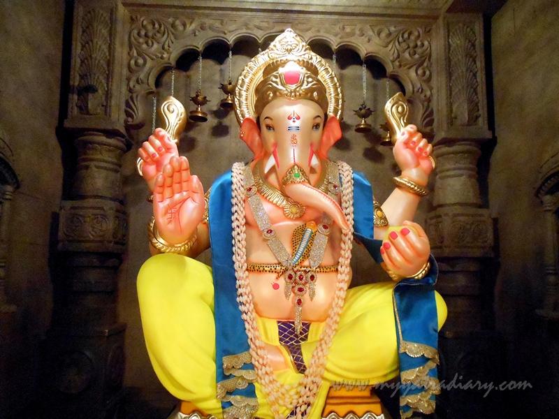 Lord Ganesha in Uttarakhand temple theme, Ganesh Pandal Hopping Mumbai