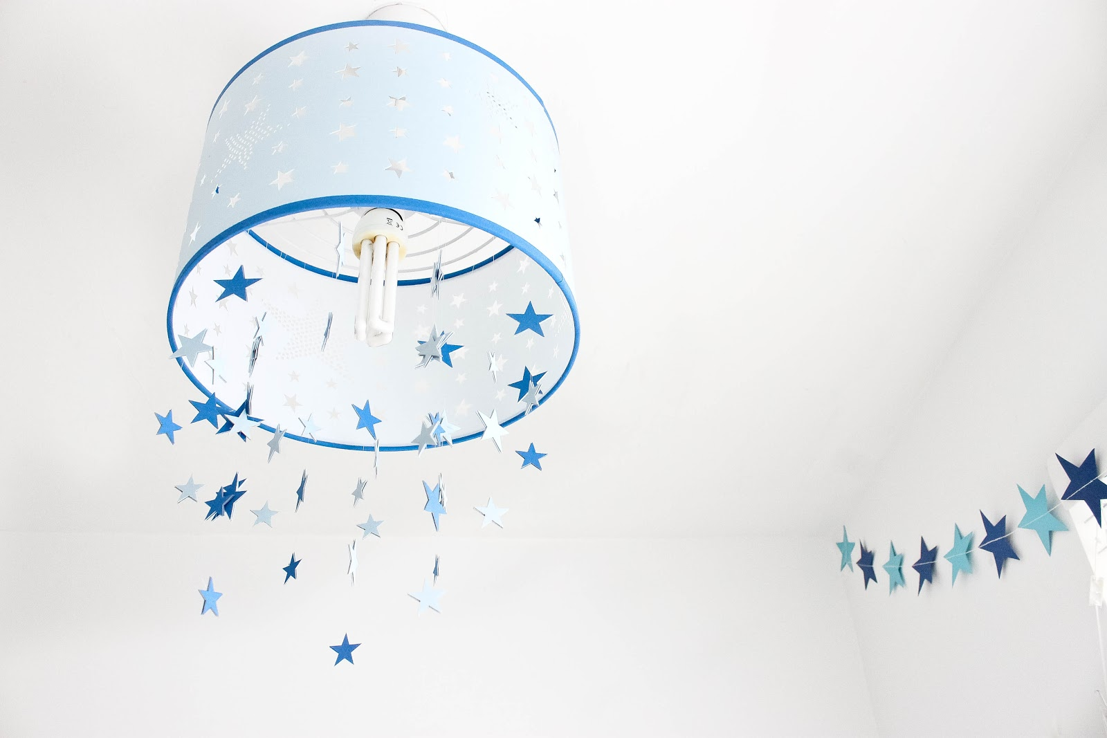star themed kids room, star themed nursery, blue star nursery, modern nursery, neutral nursery, bright nursery,
