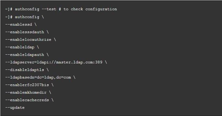 OpenLDAP Client Configuration RHEL/Centos 7
