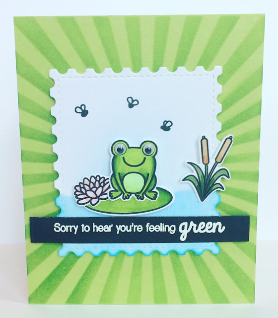 Sunny Studio Stamps: Froggy Friends Customer Card by Sarah Clark
