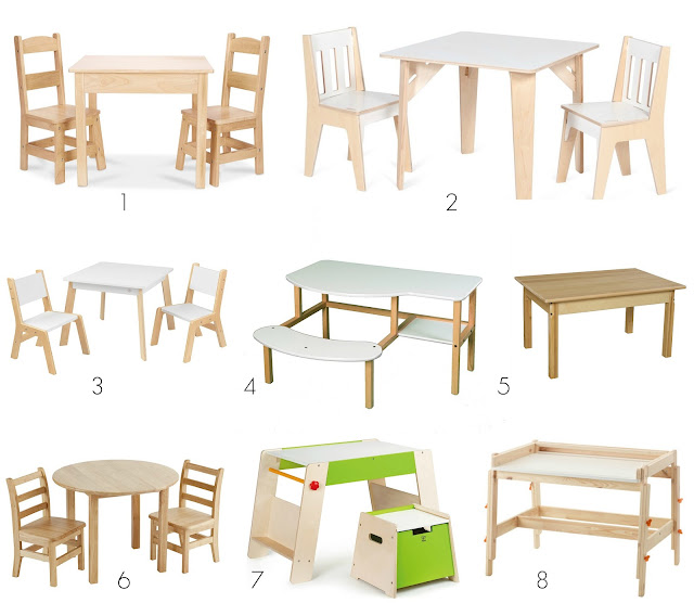 Wooden children's table options