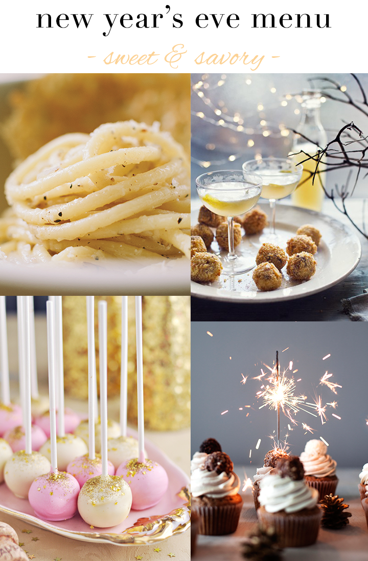 New Year's Eve Menu: Sweet & Savory {Desserts & Entrees} // A Style Caddy