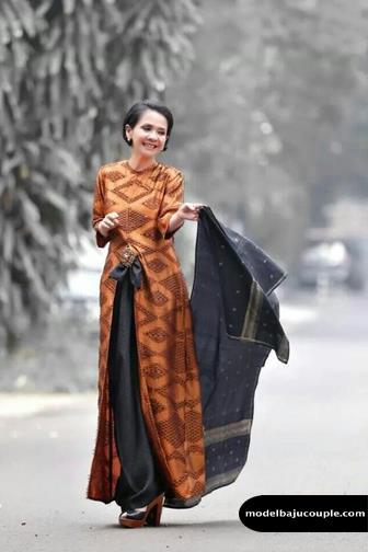 30 Flavor Gamis Batik Kombinasi Cantik Kain Polos Sifon