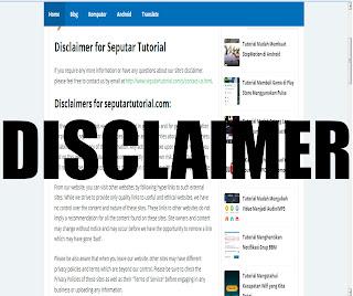 disclaimer blogspot