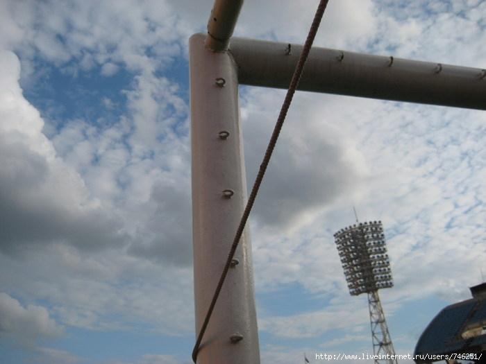 Ворота на стадионе Динамо