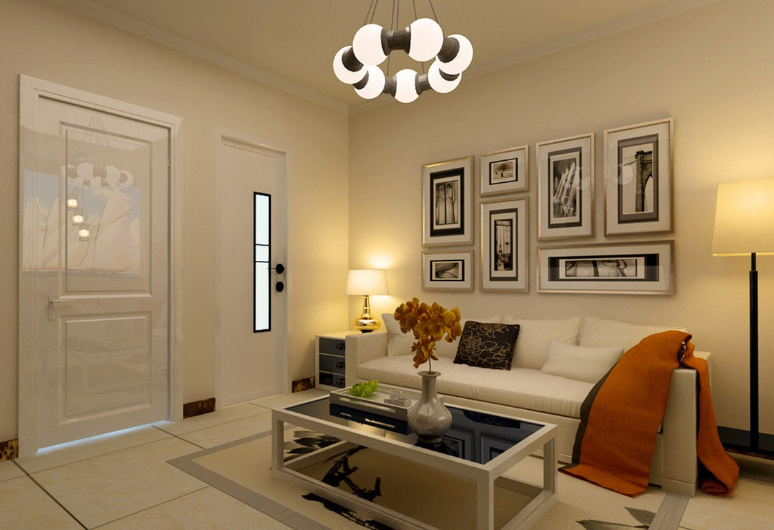 Living room lighting and wall decor ideas