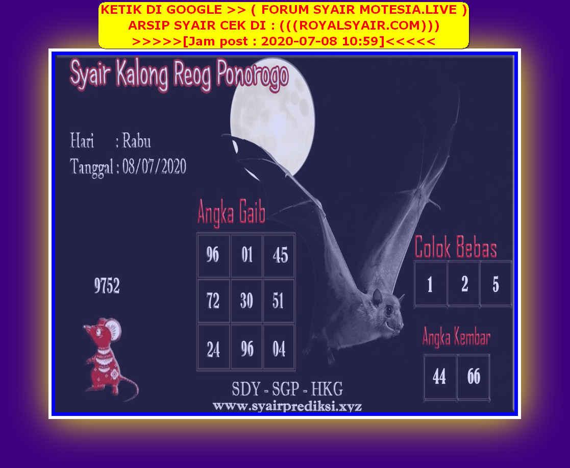 Kode syair Singapore Rabu 8 Juli 2020 94