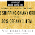 Victoria's Secret Flash Sale! 30% off One Item + Free Shipping On All Orders Until 11PM Tonight, No Minimum