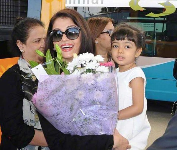 Smiling photo of Aradhya bachchan