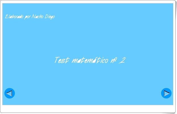 """Usa el coco: """"Test matemático Nº 2"""""""